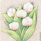 Картины цветов ручной работы. Ярмарка Мастеров - ручная работа. Купить Нежно розовые тюльпаны . Картина. Handmade. Тюльпаны, букет