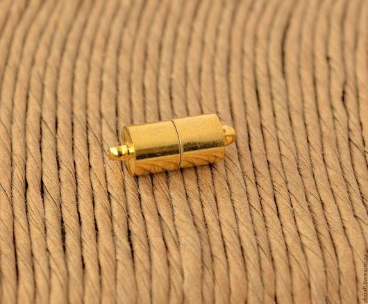 Для украшений ручной работы. Ярмарка Мастеров - ручная работа. Купить Замок магнитный Цилиндр 16,5мм золото. Handmade.