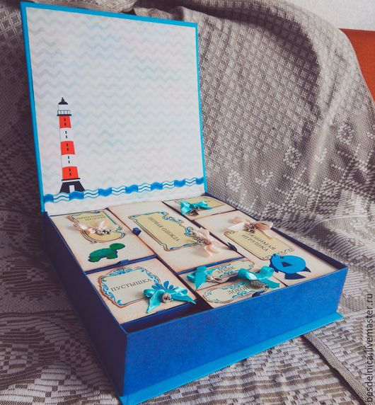 Шкатулки ручной работы. Ярмарка Мастеров - ручная работа. Купить Мамина Сокровищница. Handmade. Синий, подарок на рождение, мамины сокровища