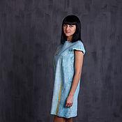 Одежда handmade. Livemaster - original item Pale blue felted dress. Handmade.