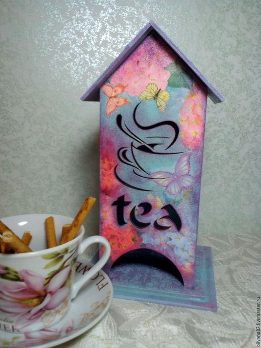 """Кухня ручной работы. Ярмарка Мастеров - ручная работа. Купить Чайный домик """"Гортензия"""". Handmade. Сиреневый, для женщины, для девушки"""