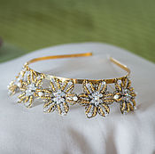 Свадебный салон handmade. Livemaster - original item crown. the wedding tiara. the gold stars.. Handmade.