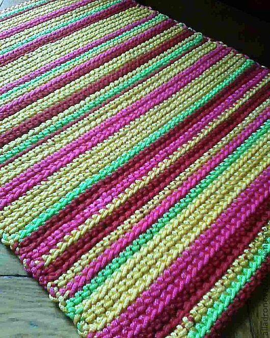 Текстиль, ковры ручной работы. Ярмарка Мастеров - ручная работа. Купить деревенская жизнь. Handmade. Коврик вязаный, домашний уют