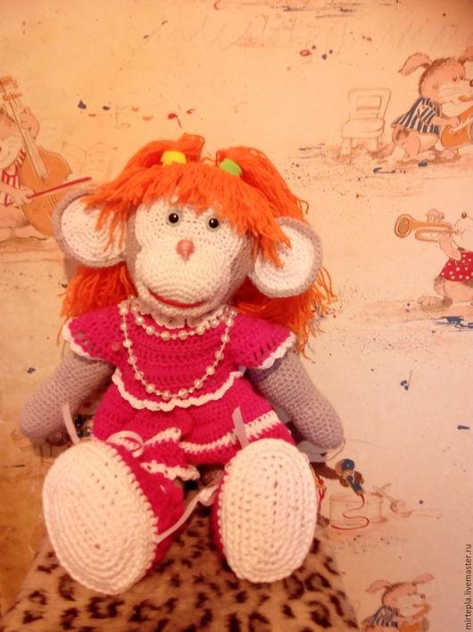 Игрушки животные, ручной работы. Ярмарка Мастеров - ручная работа. Купить обезьяна галочка. Handmade. Серый, милая игрушка