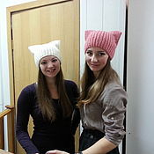Аксессуары handmade. Livemaster - original item Hat with ears. Handmade.