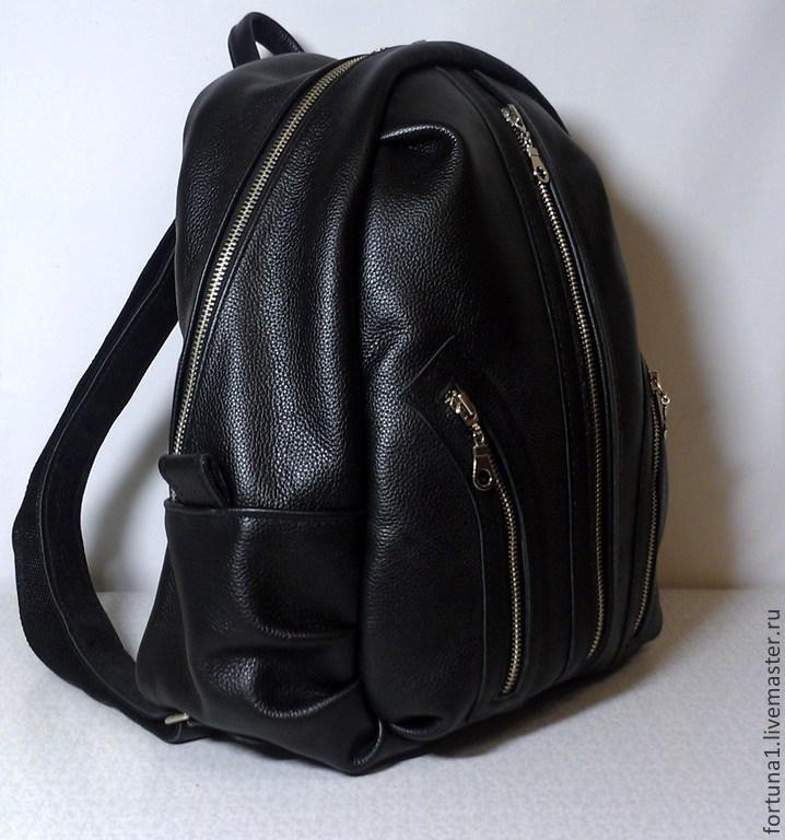 Backpack city leather 49, Backpacks, St. Petersburg,  Фото №1