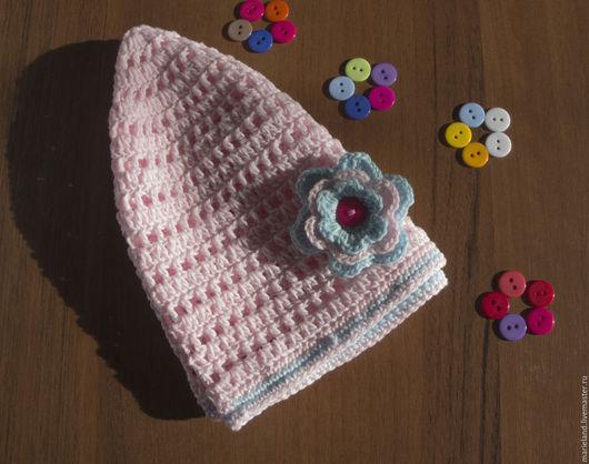 Шапки и шарфы ручной работы. Ярмарка Мастеров - ручная работа. Купить Зефирная шапочка. Handmade. Розовый, шапочка вязаная