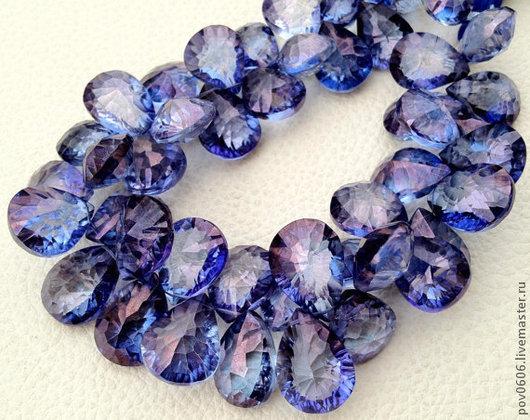 Для украшений ручной работы. Ярмарка Мастеров - ручная работа. Купить Мистик - кварц   (Танзанит) синий. Handmade. Синий