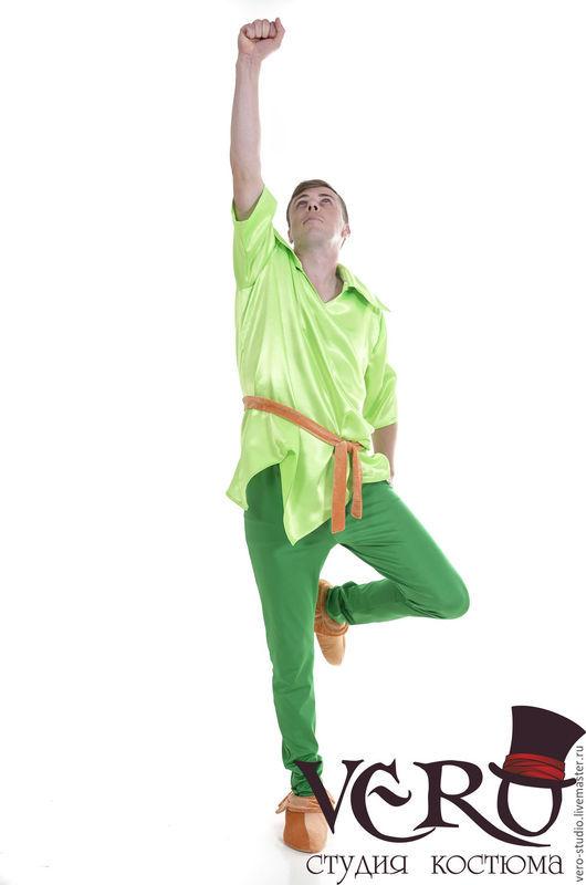Карнавальные костюмы ручной работы. Ярмарка Мастеров - ручная работа. Купить Костюм питера пэна. Handmade. Ярко-зелёный