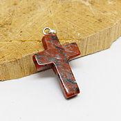 Украшения handmade. Livemaster - original item Red Jasper cross pendant. Handmade.