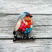 """Украшения ручной работы. Ярмарка Мастеров - ручная работа """"Зарянка"""" птичка брошь. Handmade."""