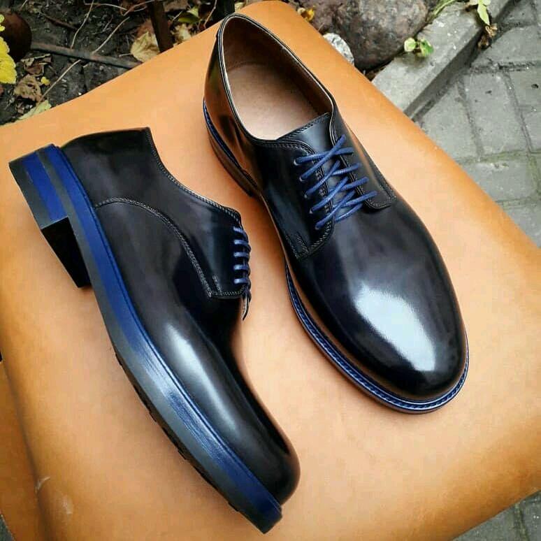 f675e0aca Обувь ручной работы. Ярмарка Мастеров - ручная работа. Купить Мужские кожаные  туфли дерби.