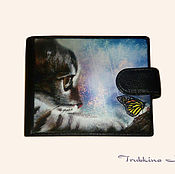 """Сумки и аксессуары ручной работы. Ярмарка Мастеров - ручная работа Портмоне """"Охота на бабочек"""". Handmade."""