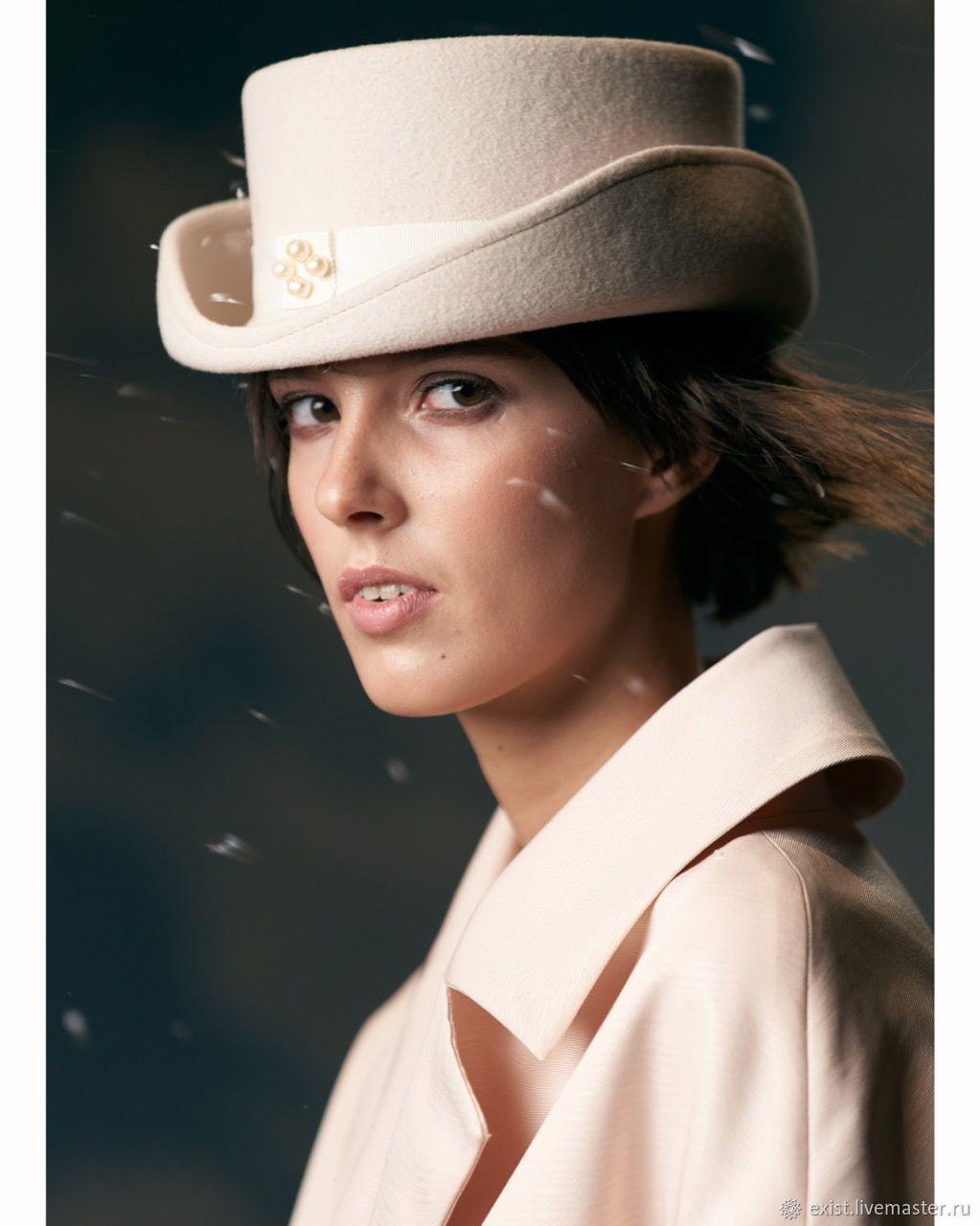 Шляпа Вивьен из велюра, Шляпы, Москва,  Фото №1