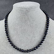 Работы для детей, handmade. Livemaster - original item Beads shortened natural black pearls. Handmade.