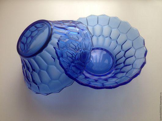 Винтажная посуда. Ярмарка Мастеров - ручная работа. Купить ваза СССР салатник  синее стекло. Handmade. Тёмно-синий, СССР