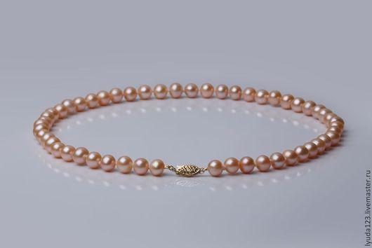Розовый жемчуг с золотом LyuPearls