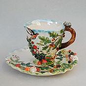 "Чайные пары ручной работы. Ярмарка Мастеров - ручная работа ""Лесная сказка"" .Чайная пара. Handmade."