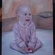 портрет ребенка (50 на 60см), художник Дарья Чернявская