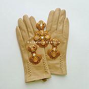 Аксессуары ручной работы. Ярмарка Мастеров - ручная работа Комплект 030: перчатки с вышивкой, 7 размер. Handmade.