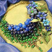 Украшения handmade. Livemaster - original item Blue - Green Parfait. Necklace made of natural stones, the colors of the skin. Handmade.