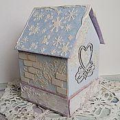 Свадебный салон ручной работы. Ярмарка Мастеров - ручная работа Свадебная казна - зимний домик. Handmade.