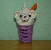 Куклы и игрушки ручной работы. Ярмарка Мастеров - ручная работа Мишка в стакане. Handmade.