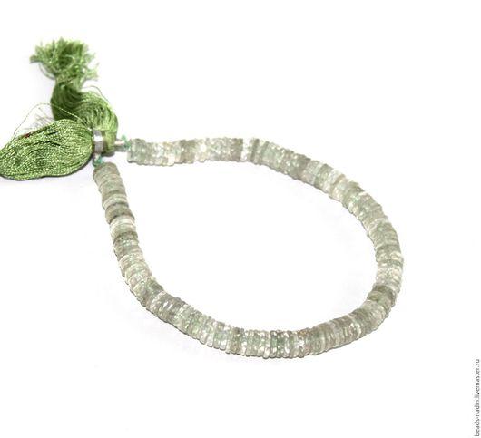Для украшений ручной работы. Ярмарка Мастеров - ручная работа. Купить -10% Празиолит, 7 мм нить 21см. Handmade.