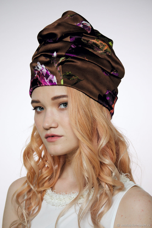f2aaf4564be Hats handmade. Livemaster - handmade. Buy Turban hat hijab millinery Brown  with flowers.