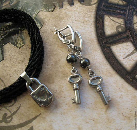 Комплекты украшений ручной работы. Ярмарка Мастеров - ручная работа. Купить Комплект Keys to the Heart (Stainless Steel). Handmade.