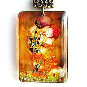 """Украшения ручной работы. Ярмарка Мастеров - ручная работа Прозрачный кулон """"Поцелуй"""" Ювелирная смола. Handmade."""