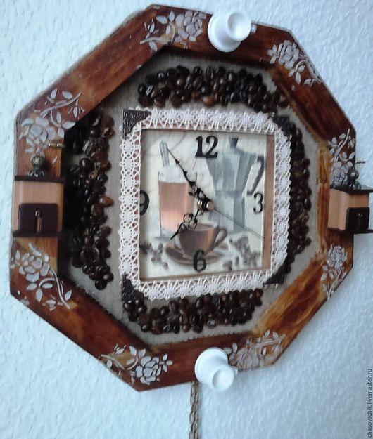 """Часы для дома ручной работы. Ярмарка Мастеров - ручная работа. Купить Часы настенные """"Кофейная кантата"""". Handmade. Коричневый, металл"""