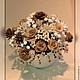 Цветы ручной работы. Цветочная композиция «Чашечка с розами. Латте..».. Flowers-house. Интернет-магазин Ярмарка Мастеров.