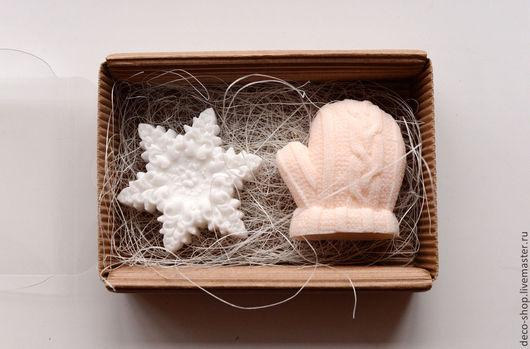 Мыло ручной работы. Ярмарка Мастеров - ручная работа. Купить Новогодний набор - Мыло ручной работы в подарочной упаковке. Handmade.