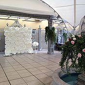 Свадебный салон ручной работы. Ярмарка Мастеров - ручная работа Пресс-волл с бумажными розами 2 (аренда). Handmade.