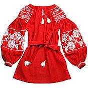 """Одежда handmade. Livemaster - original item Туника с вышивкой """"Искрящиеся Розы"""". Handmade."""