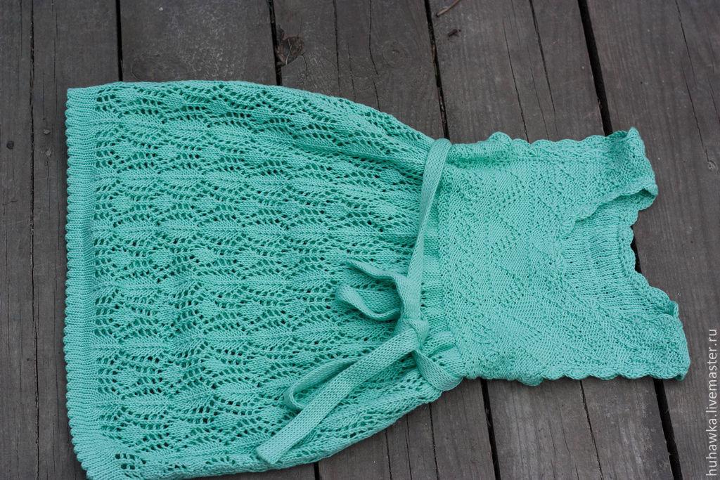 Вязаное детское платье доставка