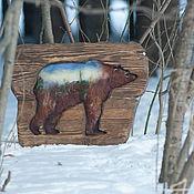 Картины и панно ручной работы. Ярмарка Мастеров - ручная работа Медведь. Handmade.