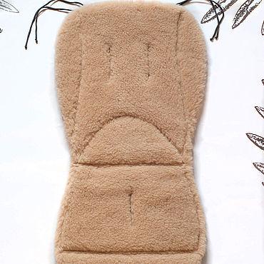 Товары для малышей ручной работы. Ярмарка Мастеров - ручная работа Теплый меховой матрасик для коляски. Handmade.