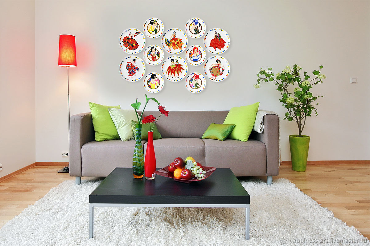 Decorative plates on the wall of Beauty as a gift for March 8 set No. №7, Gifts for March 8, Moscow,  Фото №1