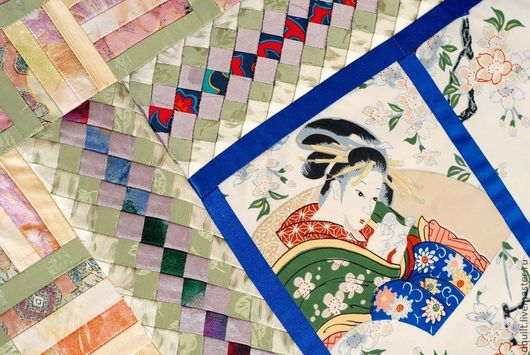 Текстиль, ковры ручной работы. Ярмарка Мастеров - ручная работа. Купить Покрывало Гейша. Handmade. Покрывало, текстиль в интерьере, японка