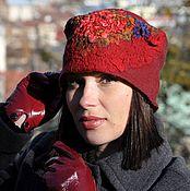Аксессуары handmade. Livemaster - original item Felted hat cap Merino wool