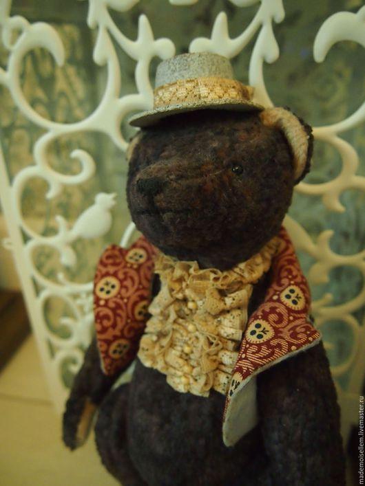 Мишки Тедди ручной работы. Ярмарка Мастеров - ручная работа. Купить Мишка тедди Тристан. Handmade. Темно-серый
