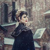 Аксессуары ручной работы. Ярмарка Мастеров - ручная работа Головной убор черной королевы. Handmade.