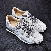 Обувь ручной работы handmade. Livemaster - original item Sneakers made of genuine python leather, in natural color.. Handmade.