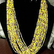 Украшения handmade. Livemaster - original item Beads YELLOW. Handmade.
