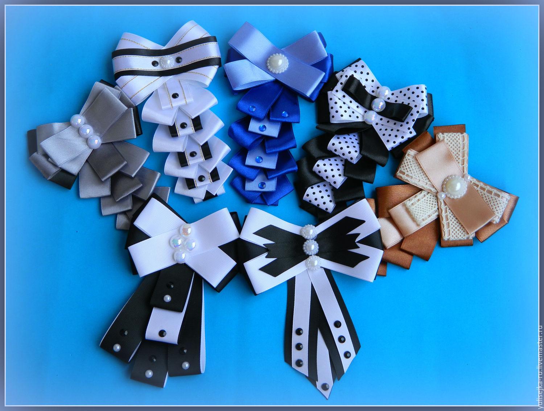 Днем, галстук для открытки из атласной ленты