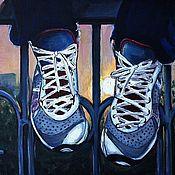 Картины и панно ручной работы. Ярмарка Мастеров - ручная работа пробежка. Handmade.