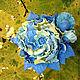 """Броши ручной работы. Ярмарка Мастеров - ручная работа. Купить брошь  """"Диковинный мак"""". Handmade. Брошь, хандмейд, голубой цвет"""