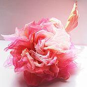 Украшения handmade. Livemaster - original item Chiffon rose brooch. Handmade.